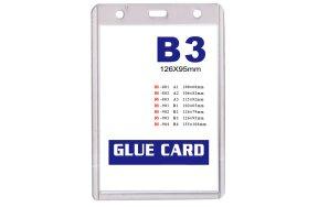NAME BADGE HOLDER PVC B3 95x126mm SET/20